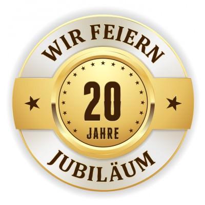 Goldener 20 Jahre Jubiläum Siegel